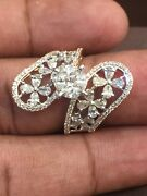2.06 Cts Round Princess Marquise Pear Cut Natural Diamonds Ring In Fine 14k Gold