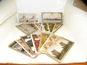 Vintage Polychrome Stereo View 35 Card Lot Viewer Antique Landmarks Scenery
