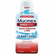 Mucinex Sinus-max Clear And Cool Adult Liquid - Severe Congestion 6 Oz 6 Pack