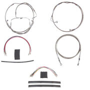 Stainless Clutch Brake Line Mstr Kit 16 Apes 2008-2013 Harley Touring Cvo Abs