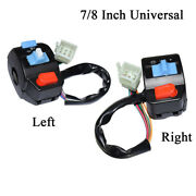 7/8 L+r Motorcycle Handlebar Switches Horn Turn Signal Electric Start Control