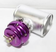 Turbo Universal Blow Off Valve Emusa 50mm V Band Purple And Bov Piping Adapter 4
