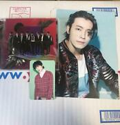 Super Junior One More Time Official Cd Eunhyuk Photocard Donghae Flyer Set