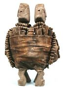 Art African - Antique Couple Fetishes Fon - Bottles And Irons Ritual 36 Cms