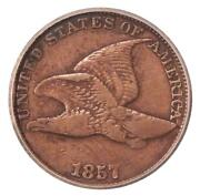 1857 1c Icg F-12 Clash 50c Fs-402 Neat Flying Eagle Cent Variety