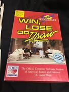 """Vintage Win Lose Or Draw 1990 Computer Game Ibm 3 5"""" Disk,apple,commodore"""