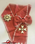 Poland. Commanderand039s Cross With Star. Case And Original Ribbon