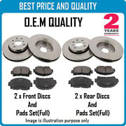 Front And Rear Brke Discs And Pads For Alfa Romeo Oem Quality 2429148024301530