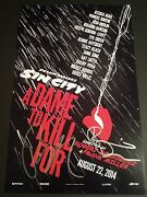 Rosario Dawson And Robert Rodriguez Sin City 2authentic Hand-signed 11x17 Photo