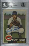 1953 Topps High Hank Foiles Henry 252 Bas Certified Bgs Encased Auto Rookie