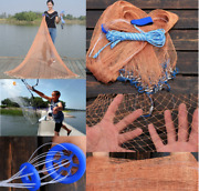 Fishing Net Casting Catching Bait Fish Hands Easy Throw Nets Large Catch Netting