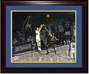 Steph Curry Signed 16x20 Lebron James 2018 Finals Photo Framed Auto Steiner