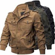 2021 Mens Outdoor Tactical Washed Cotton Military Jackets Bomber Cargo Coat