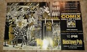 1992 Underground Comix Hall Of Fame Poster 22x14 Fvf 7.0 S Clay Wilson Griffin