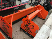 Compact Tractor Snow Pusher 6' Box Pusher By Buyers Scoop Dogg Video..