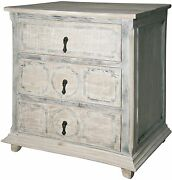 30.5 T Nightstand Hand Crafted Reclaimed Fir One Of A Kind Washed Finish