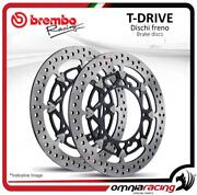 Pair Of Front Brake Discs Brembo T Drive 310mm For Kawasaki Zx6r 636/ Abs 2013
