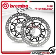 Pair Of Brembo Pistabassa Front Brake Disc 320mm For Kawasaki Zx6r /rr 2005