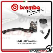 Brembo Racing Radial Master Cylinder Front Brake 19x18 Switch And Reservoir Oil