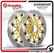 Pair Of Front Brake Discs Brembo Supersport 330mm Ducati 1098 All Mod 20072008