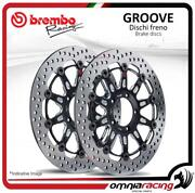 Pair Of Brembo The Groove Front Brake Discs 300mm Yamaha Xv 1600 Wild Star 9907