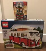 Lego 10220 Volkswagen T1 Camper Van Old Version Box And 40293 Carousel New Sealed