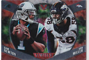 Von Miller And Cam Newton Dual Nemeses Insert Football Card Broncos Panthers