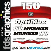 Mariner 150hp Optimax Outboard Decals/sticker Kit