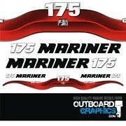 Mariner 175hp Optimax Outboard Decals/sticker Kit