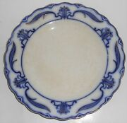 W.h. Grindley Flow Blue China Lotus Dinner Plate 5