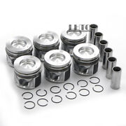 6x Pistons Rings Set 83.01mm / Andphi30mm For Vw Touareg Audi A4 A6 Q7 3.0 Tdi Diesel