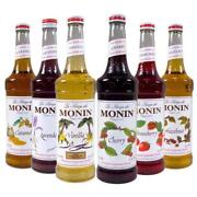 Monin Premium Flavored Syrups - 750ml Glass Bottles For Coffee Soda And More