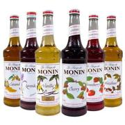 Monin Premium Flavored Syrups - 750ml Glass Bottles For Coffee, Soda And More