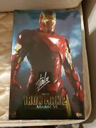Signed Hot Toys Iron Man 2 Mark Vi 6 Collector's Edition Mms 132 Stan Lee