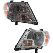 Halogen Headlight Set For 2009-2017 Nissan Frontier Left And Right W/ Bulbs Capa