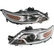 Halogen Headlight Set Left And Right For 2010-2012 Ford Taurus Limited Se Sel