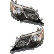 For 2012-2014 Toyota Camry [se Style] Projector Blk Headlights Lamps Left+right