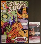 Stan Lee Authentic Hand-signed Silver Surfer 44 1st Infinity Gauntlet Jsa Coa