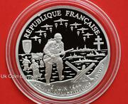 1993 Republique Francaise 50th Anniversary 1 Franc Silver Proof Coin And Coa