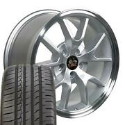 18 Inch Silver Rims And 245/40zr18 Tire Set Fit Ford Mustang Fr500 Style