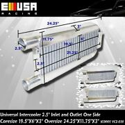 2.5 Inlet And Outlet One Side Intercooler 24x11x3 For 240sx S13 S14 Rb20det