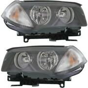 Headlight Set For 2007 2008 2009 2010 Bmw X3 Left And Right With Bulb 2pc