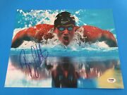 Ryan Lochte Gold Medal Swimming 11x14 Photo Signed Auto Psa/dna Sticker Only