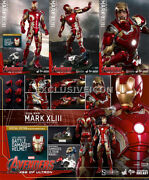 Hot Toys 1/6 Avengers Ii Mms278-d09 Aou Iron Man Mark 43 Diecast Ex Sealed Brown