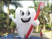 20and039 Inflatable Tooth Advertising Dentist Ad Health Promotion With Blower My