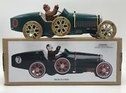Boat Tail Speedster Repro Wind-up Grand Prix Race Car Tin Toy