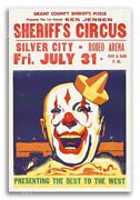 1955 Sheriffand039s Circus - Silver City Nm Vintage Style Circus Poster - 24x36
