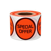 Special Offer Stickers Promotion Clearance Garage Sale Labels 1.5 Round, 4pk