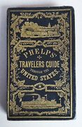 1855 Phelpsand039 Pocket Travelerand039s Guide To The United States Large Hand-colored Map