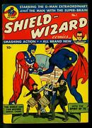 Shield Wizard 1 1940- Mlj/archie Golden Age Comic- Flag Cover- Fn-